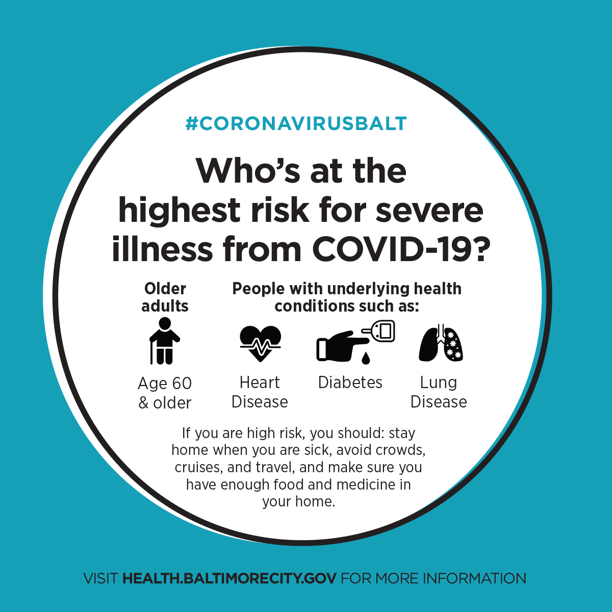 Who's at highest risk? Older adults & those with underlying health conditions are at risk