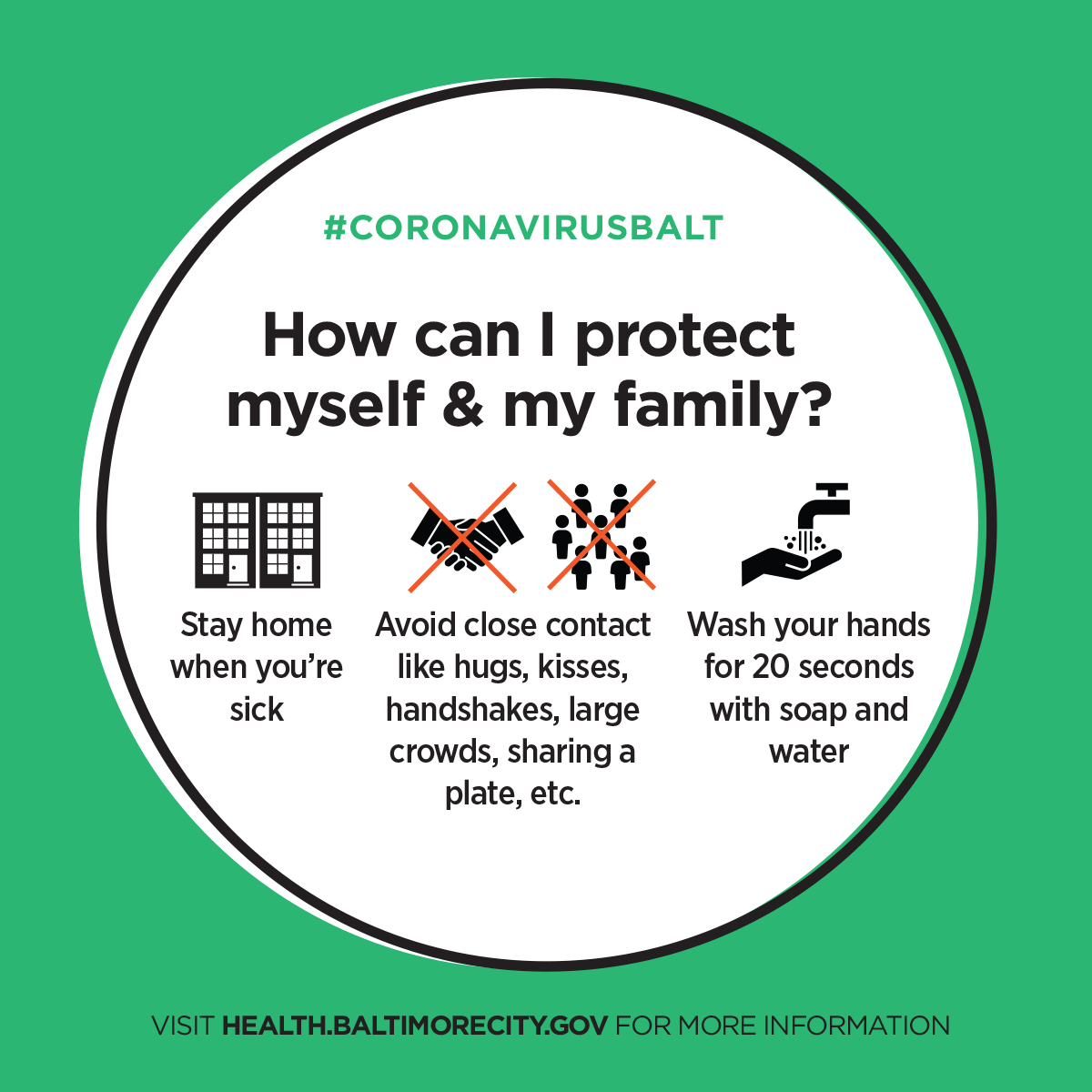 How can I protect myself?  Stay home when you are sick, avoid close contact and wash your hands